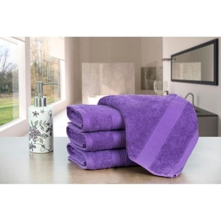 Link to Ample Decor Premium Cotton Extra Absorbent 4 Pcs Hand Towel Set - 18 x 28 inch Similar Items in Towels