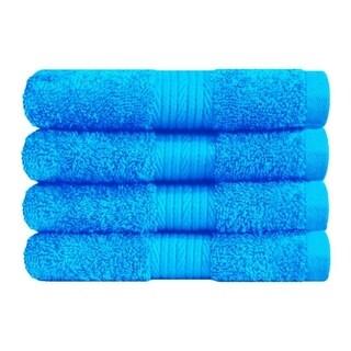 Ample Decor Premium Cotton Extra Absorbent 4 Pcs Hand Towel Set