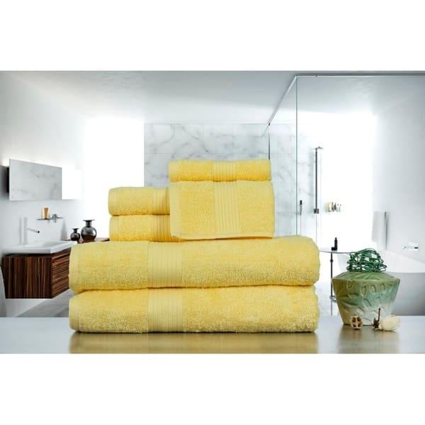 Shop Ample Decor Premium Blended 100 Cotton 6 Pcs Towel Set 2 X