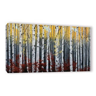 Julie Peterson's 'Birch Forest' Gallery Wrapped Canvas - Still Life/Illustration/Floral (As Is Item)