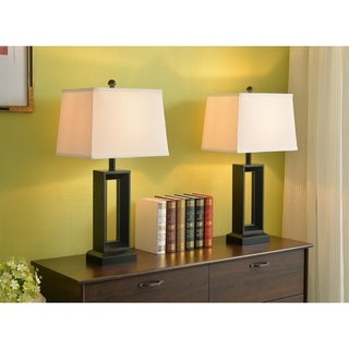 "Katy 2-Pack 28"" Table Lamp - Black"