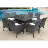 Peninsula 9 Pc Dining Set in Multi Brown
