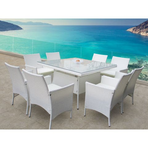 Peninsula 9 Pc Dining Set in White