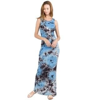 Knit Tie Dye Maxi Dress