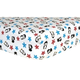 Link to Penguin Deluxe Flannel Fitted Crib Sheet Similar Items in Baby Bed Sheets