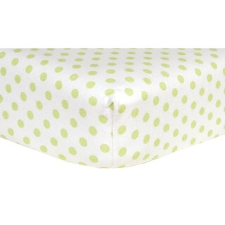 Sage Dot Deluxe Flannel Fitted Crib Sheet