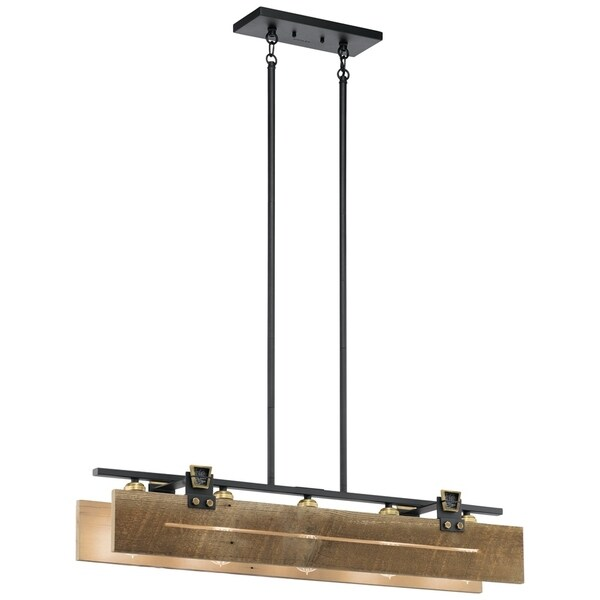Kichler Lighting Reviews: Shop Kichler Ridgewood 5-light Textured Black Linear