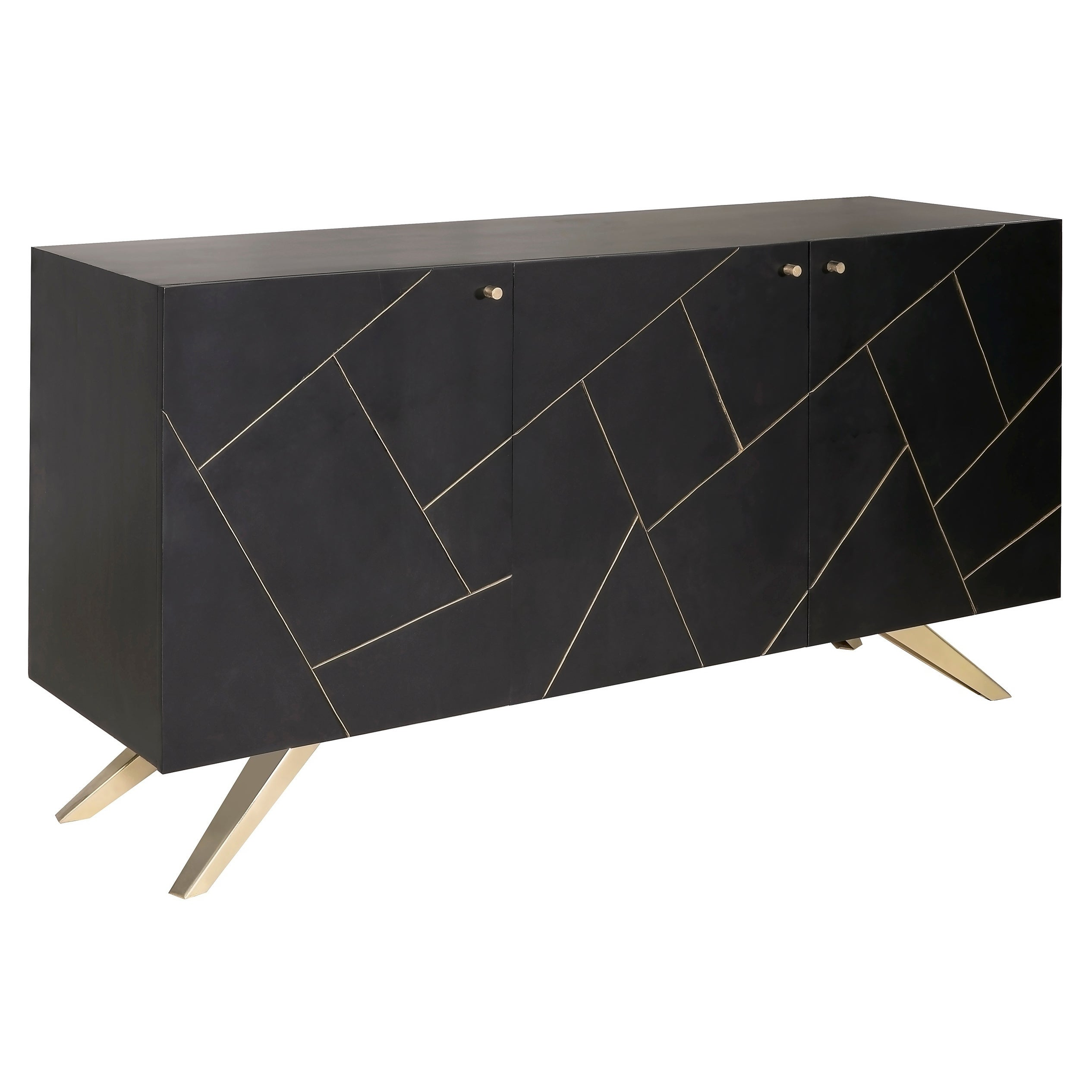 Picture of: Shop Black Friday Deals On Magnus Glam Brown And Gold Sideboard Buffet Overstock 22120379