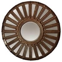 Round Convex Aged Bronze Wall Mirror