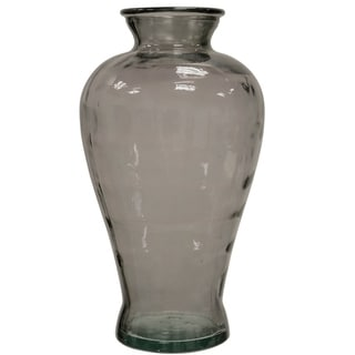 Translucent Smoke Curved Glass Vase