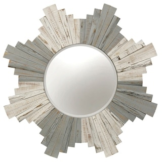 Natural Whitewashed Grey Wood Wall Mirror
