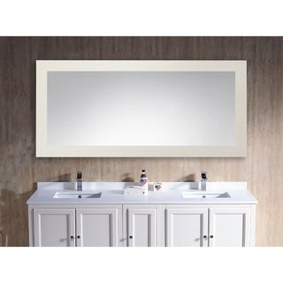 U.S. Made Arctic Ivory Large Vanity Mirror