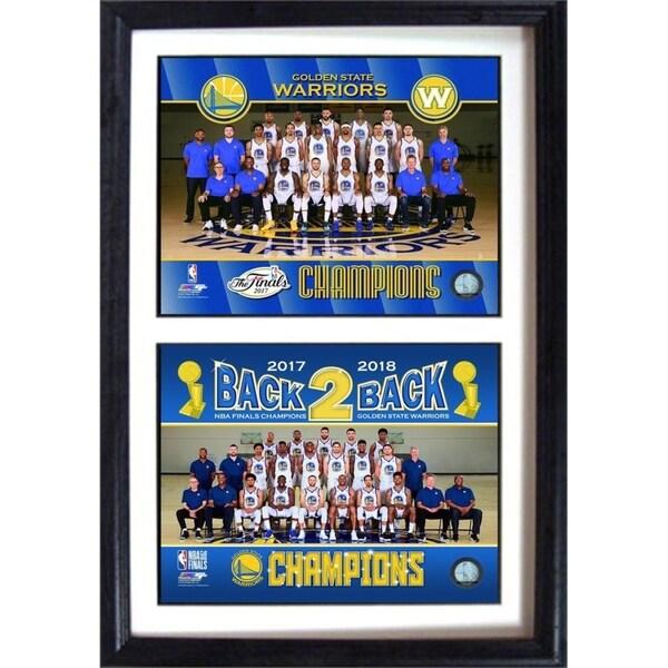 Shop Golden State Warriors 2018 Celebration 12x18 Double Photo Frame