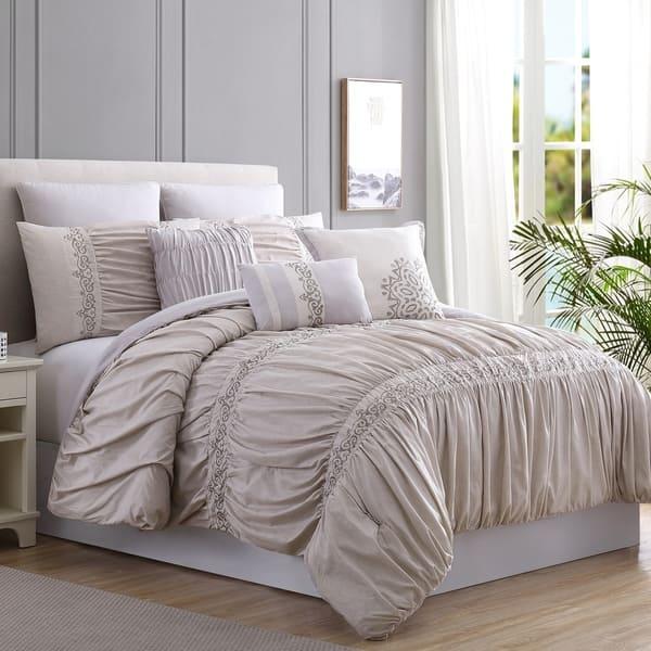 Modern Threads Rialto Embellished 8 Piece Comforter Set Overstock 22121285