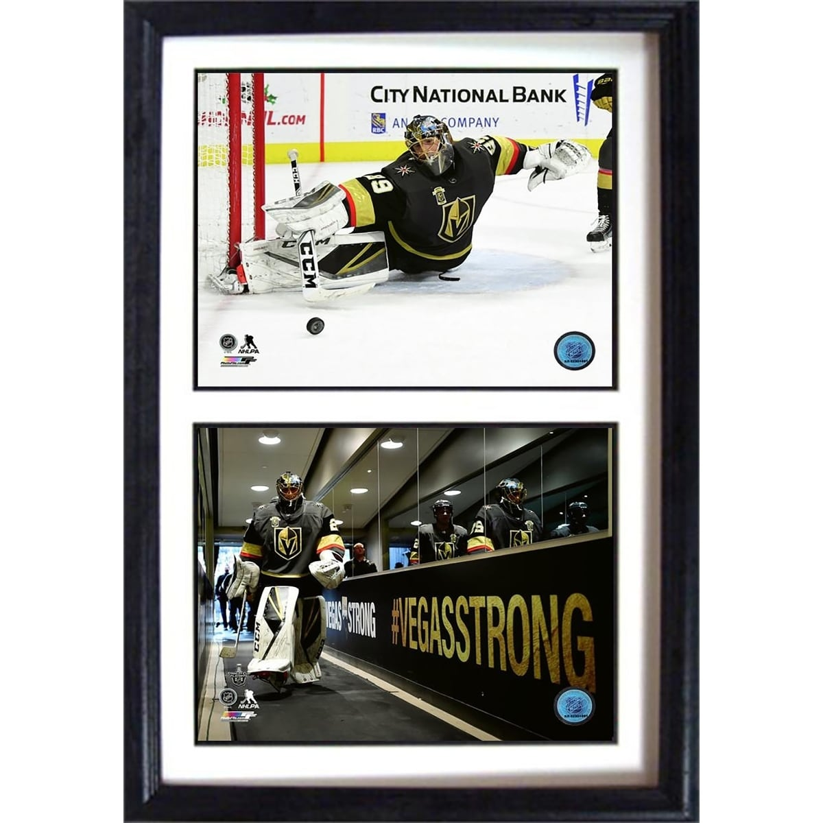 quality design bcb1b 53c1d NHL 12x18 Double Hockey Photo Frame ft Marc Andre Fleury of the Las Vegas  Golden Knights