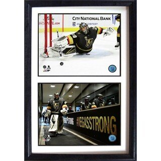 NHL 12x18 Double Hockey Photo Frame ft Marc Andre Fleury of the Las Vegas Golden Knights