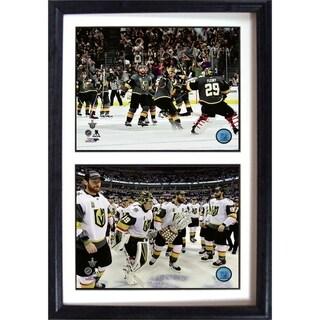 NHL 12x18 Celebration Double Photo Frame ft Las Vegas Golden Knights