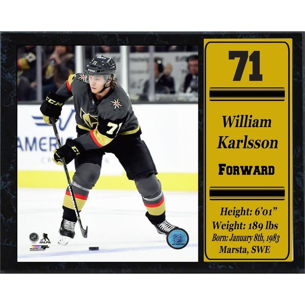 finest selection 4cc21 24fc1 NHL 12x15 Hockey Player Stat Plaque ft William Karlsson of the Las Vegas  Golden Knights