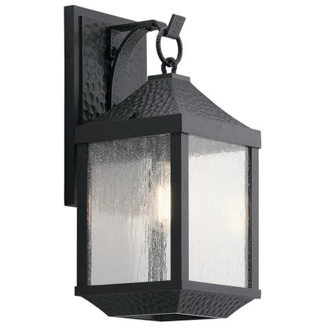 Kichler Lighting Springfield Collection 1-light Distressed Black Outdoor Wall Lantern