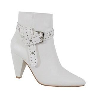 Yoki-Gabriella-30 Women's Buckled Ankle Booties