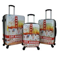World Traveler Destinations 3-Piece Hardside Spinner Luggage Set