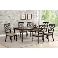 Home Source Rebecca Black 7 Piece Dining Set with 1 Table and 6 Chairs
