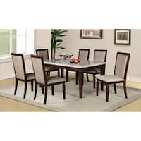 Home Source Marissa Wooden 7 Piece Dining Set with 1 Table and 6 Side Chairs