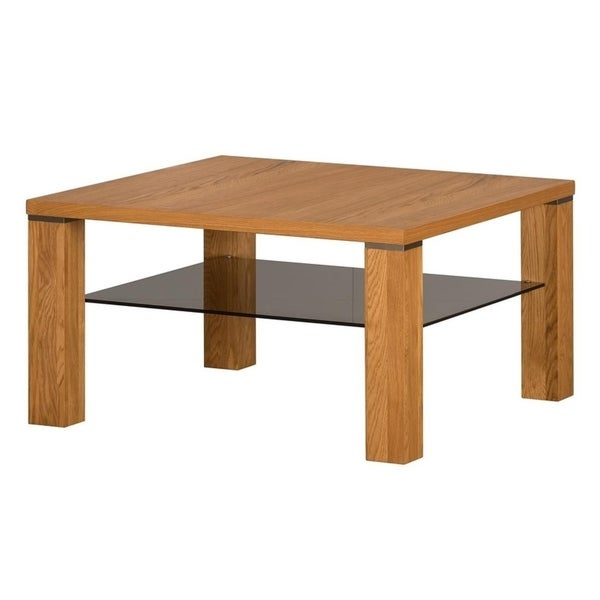 Shop Torino Square Golden Oak Coffee Table On Sale Free Shipping