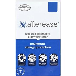 AllerEase Maximum Allergy & Bedbug Zippered Pillow Protector, King