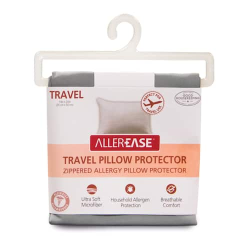 AllerEase Zippered Allergy Travel Pillow Protector