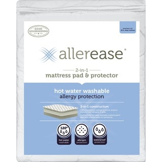 Link to AllerEase 2-in-1 Mattress Pad & Protector, Hot Water Washable - White Similar Items in Mattress Pads & Toppers