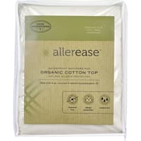 AllerEase Naturals, Waterproof Mattress Pad, Organic Cotton Top - White