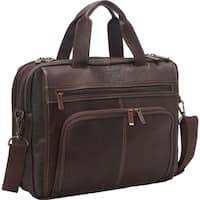 Kenneth Cole Reaction Full-Grain Colombian Leather Anti-Theft RFID Expandable 15.6in Laptop Business Portfolio Bag