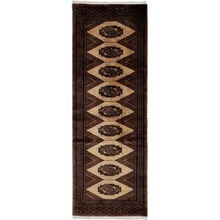 eCarpetGallery Hand-knotted Peshawar Bokhara Brown, Cream Wool Rug - 2'2 x 6'1