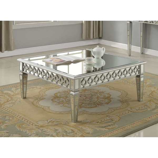 Shop Best Master Furniture Silver Mirrored Square Coffee