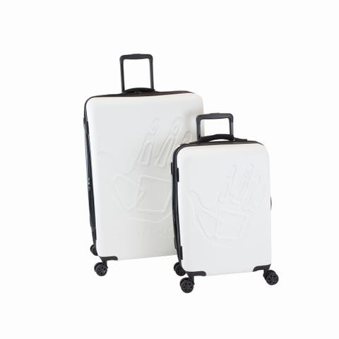 Body Glove Redondo White 2-piece Hardside Spinner Luggage Set - 12.0 In. X 20.0 In. X 30.0 In.