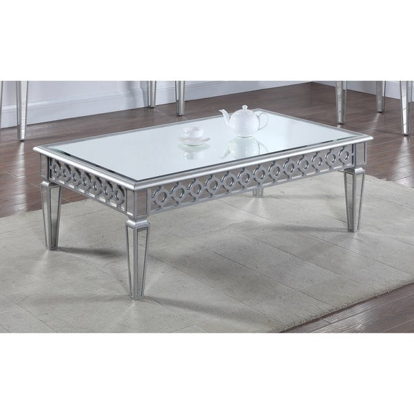 Shop Best Master Furniture Silver Mirrored Rectangular