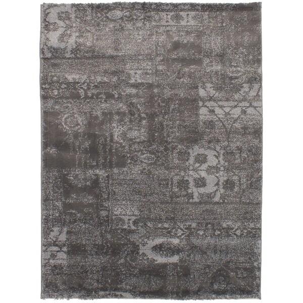 ECARPETGALLERY Soho Grey Shag - 4'7 x 6'5