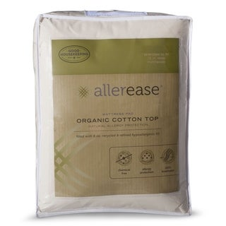 Link to AllerEase Organic Cotton Top Mattress Pad - White Similar Items in Mattress Pads & Toppers