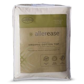 AllerEase Organic Cotton Top Mattress Pad - White