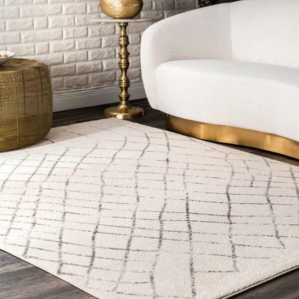 Shop Nuloom Ivory Transitional Geometric Bosphorus Faded