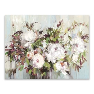 """""""Soft Posy"""" Hand Embellished Canvas - 32W x 24H x 1.25D - Multi-color"""