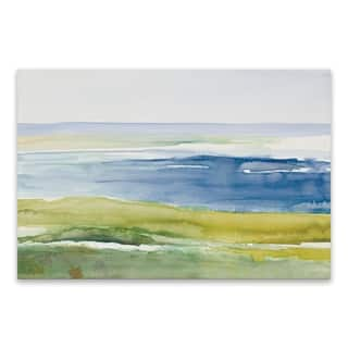 """""""Cape Cod Beach"""" Hand Embellished Canvas - 36W x 24H x 1.5D - Multi-color"""
