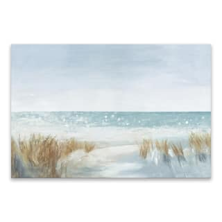 """""""Soft Beach"""" Hand Embellished Canvas - 36W x 24H x 1.5D - Multi-color"""