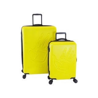 Body Glove Redondo Yellow 2-piece Hardside Spinner Luggage Set
