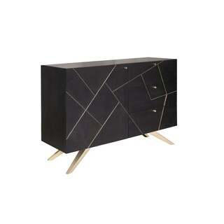 Magnus Glam Brown/ Gold 3 Drawer Dresser Cabinet