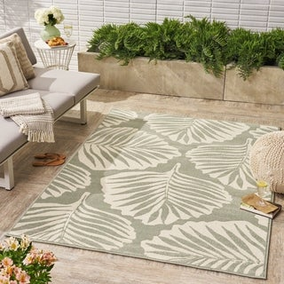 Verbena Indoor/ Outdoor Floral Area Rug by Christopher Knight Home - 5'X8'
