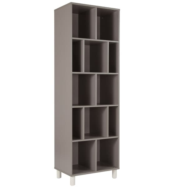 Grey Painted Wood Bookshelf