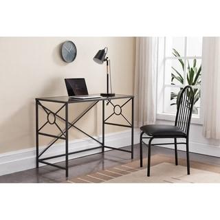 Black Metal Glass  Desk
