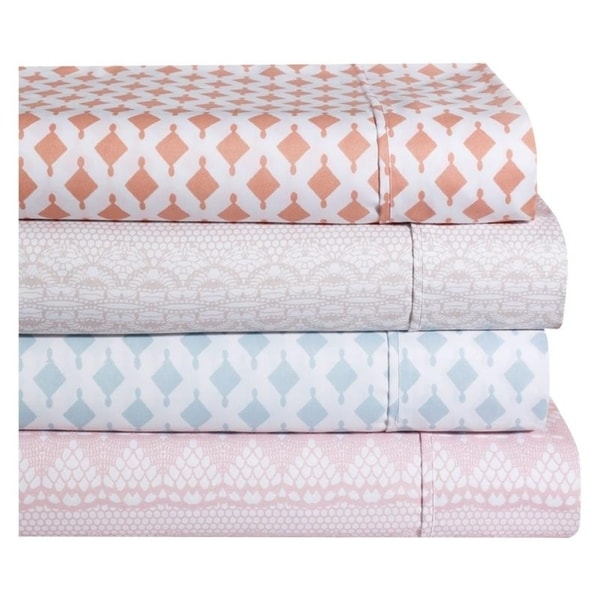 Ellen Tracy Luxury Geometric and Lace Premium Microfiber Sheet Sets